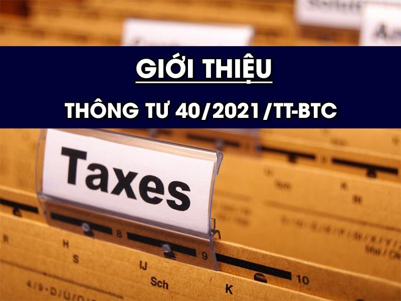 Giới thiệu Thông tư 20/2021/TT-BTC